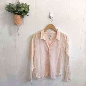 Forever 21 Light Pink Button Up Top!